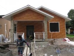施工中的小别墅